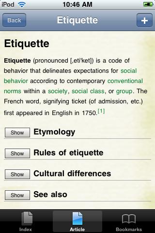 Etiquette Study Guide screenshot #1