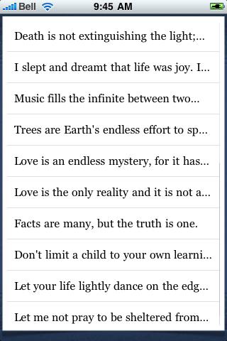 Rabindranath Tagore Quotes screenshot #3