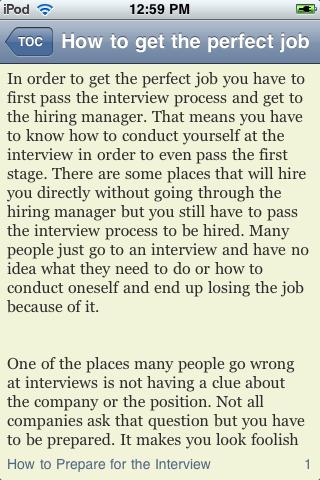 How to Get the Perfect Job screenshot #2