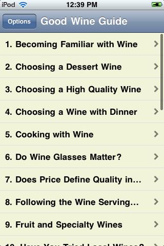 Great Wine Guide screenshot #1