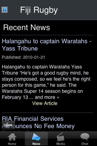 Rugby Fans - Fiji screenshot #2