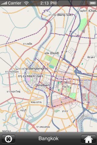 iMapsPro - Bangkok screenshot #1