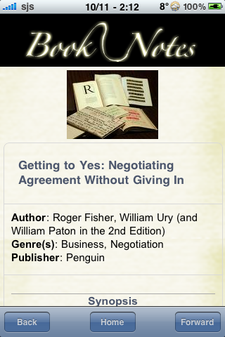 Book Notes - Getting to Yes screenshot #3
