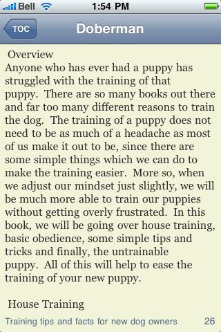 The Doberman Pinscher Book screenshot #3