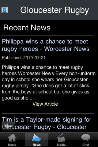 Rugby Fans - Gloucester screenshot #2