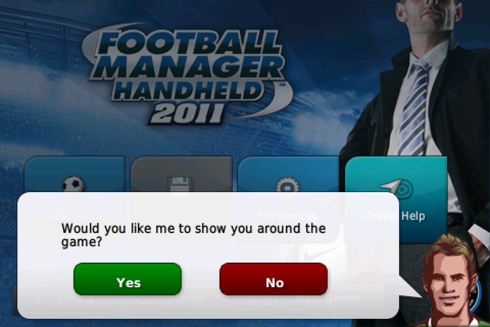 Football Manager Handheld™ 2011 (US and Japan) screenshot #1