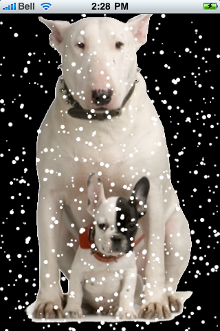 Bull Terrier With Puppy Snow Globe screenshot #2