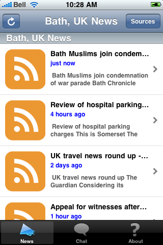 Bath, UK News screenshot #1