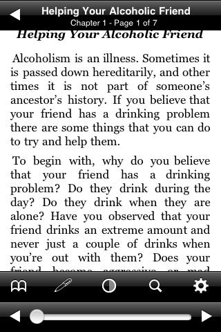 Helping Your Alcoholic Friend screenshot #2
