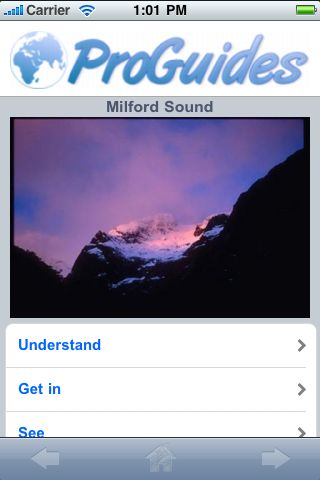ProGuides - Milford Sound screenshot #1