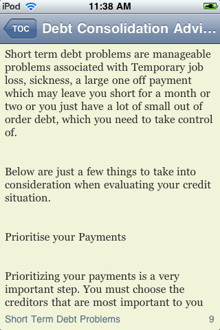 Debt Consolidation Advice screenshot #2