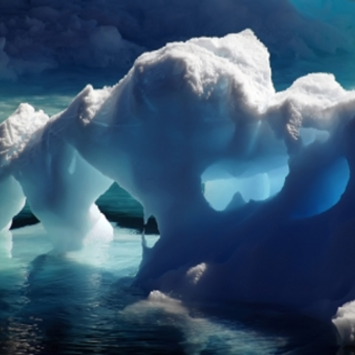 Gorgeous Ice Caverns Slide Puzzle