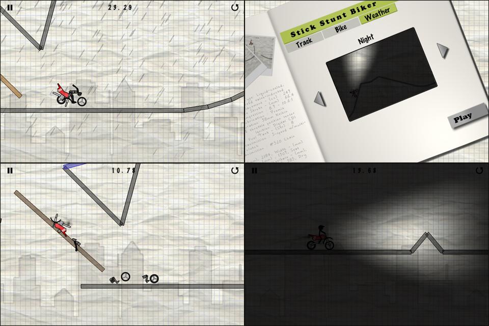 Stick Stunt Biker Lite screenshot #5