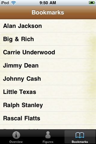 Country Music Artists Pocket Book screenshot #5