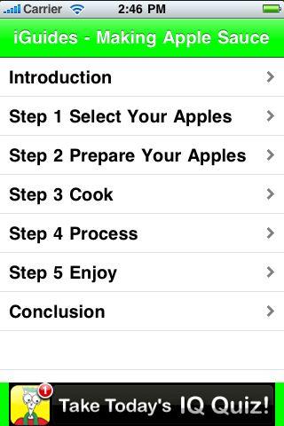 iGuides - Making Apple Sauce screenshot #2