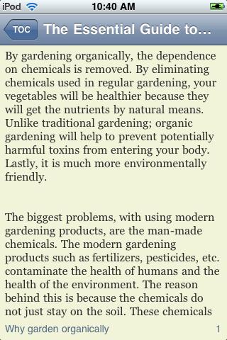 The Essential Guide to Organic Gardening screenshot #3