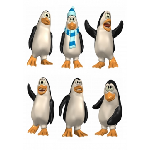 Funny Penguins Slide Puzzle