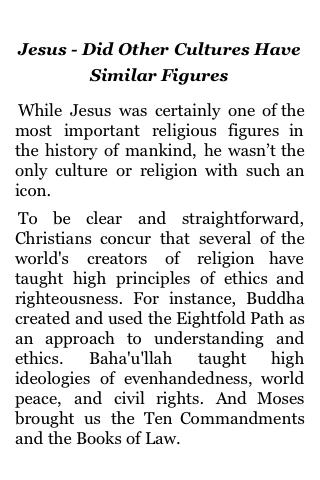 Jesus – Did Other Cultures Have Similar Figures screenshot #1