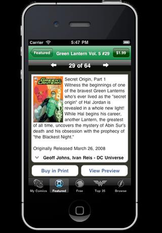 Green Lantern Comics screenshot 3