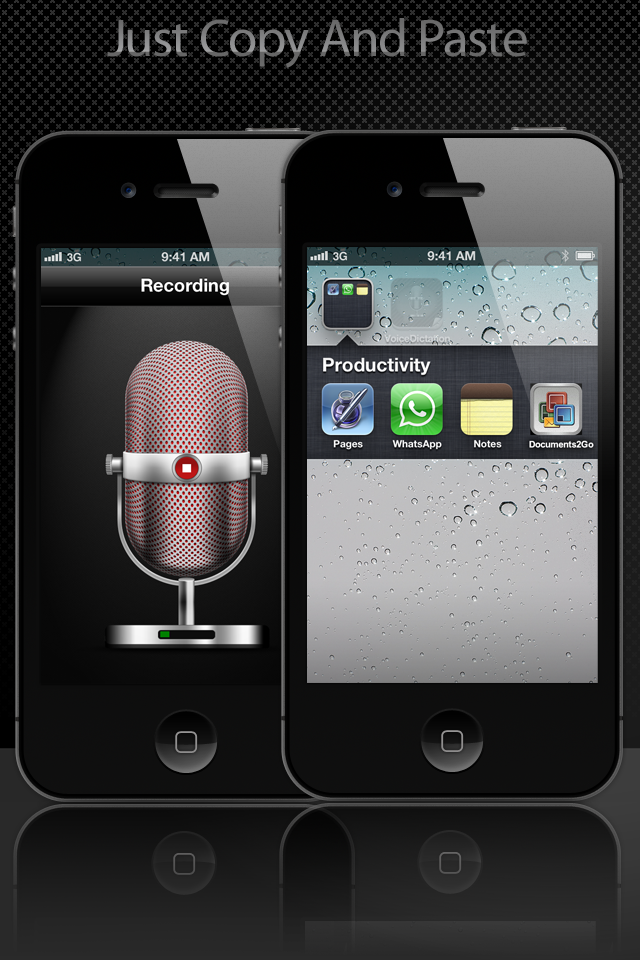 Voice To Apps – Voice To Messages, Email, Facebook and Twitter Screenshot