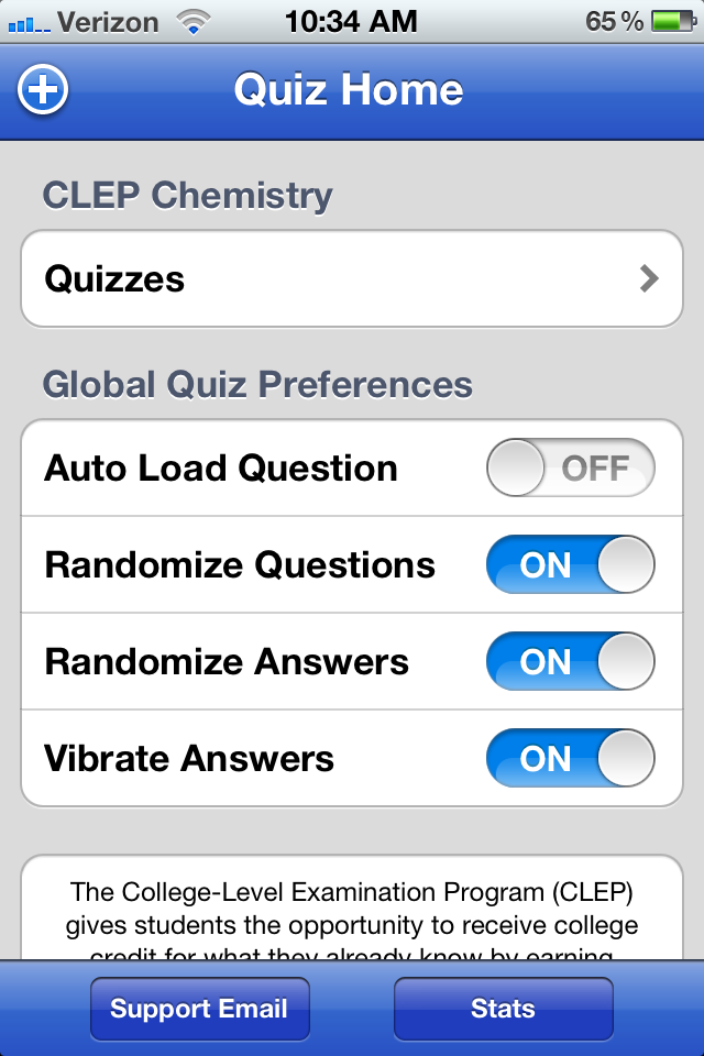 CLEP Chemistry screenshot 2