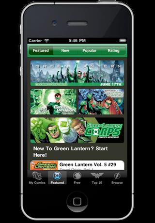 Green Lantern Comics screenshot 2