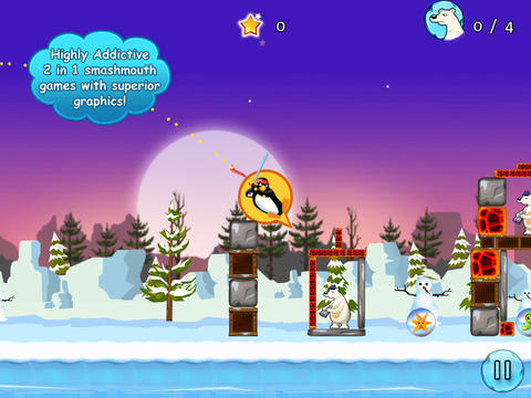 Crazy Penguin Assault Free For iPad screenshot 3