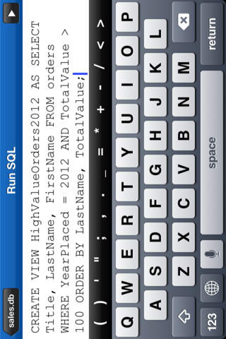 SQLite + screenshot 3