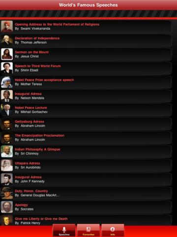 World's Famous Speeches screenshot 7