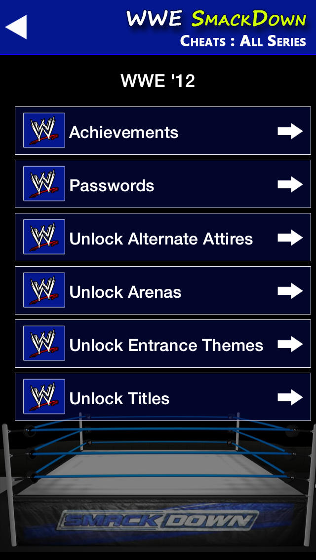 WWE SmackDown All Cheats + Unlock Passwords, Codes, Trophies screenshot #3