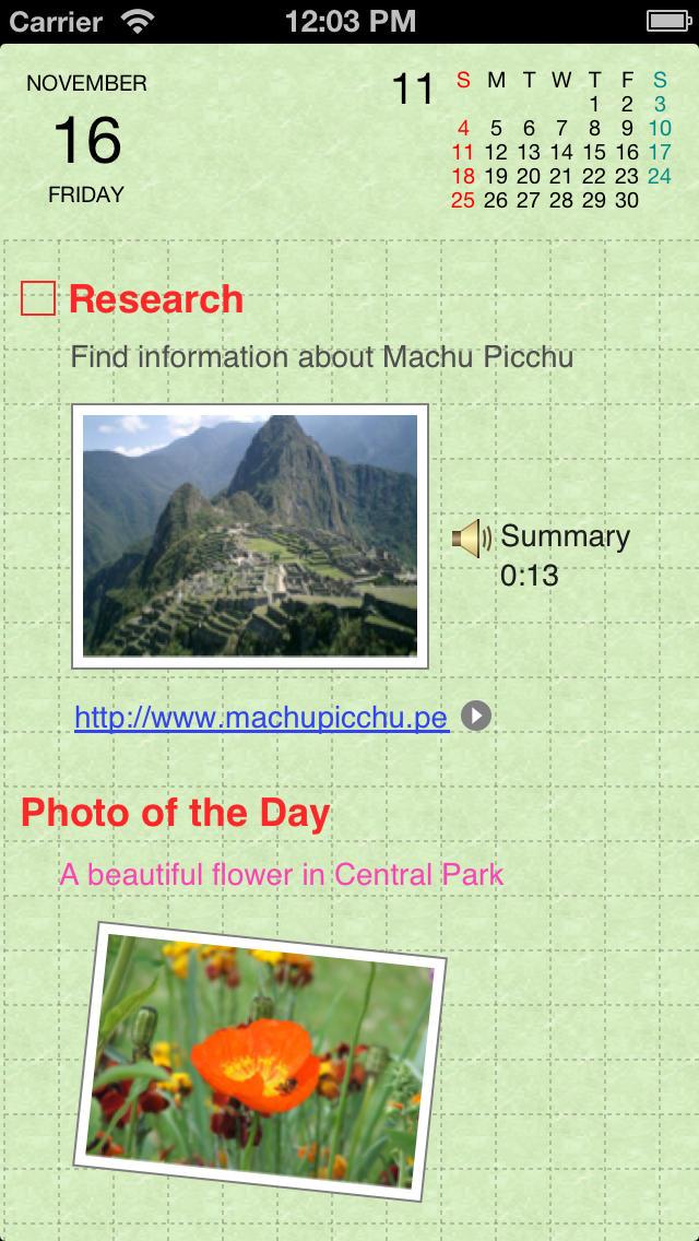 Organizer for iPhone screenshot 3