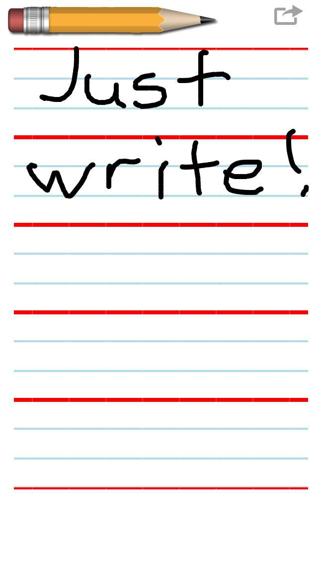 Kids Writing Pad screenshot 1