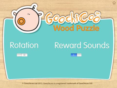 Wood Puzzle Baby GoochiCoo HD screenshot 4