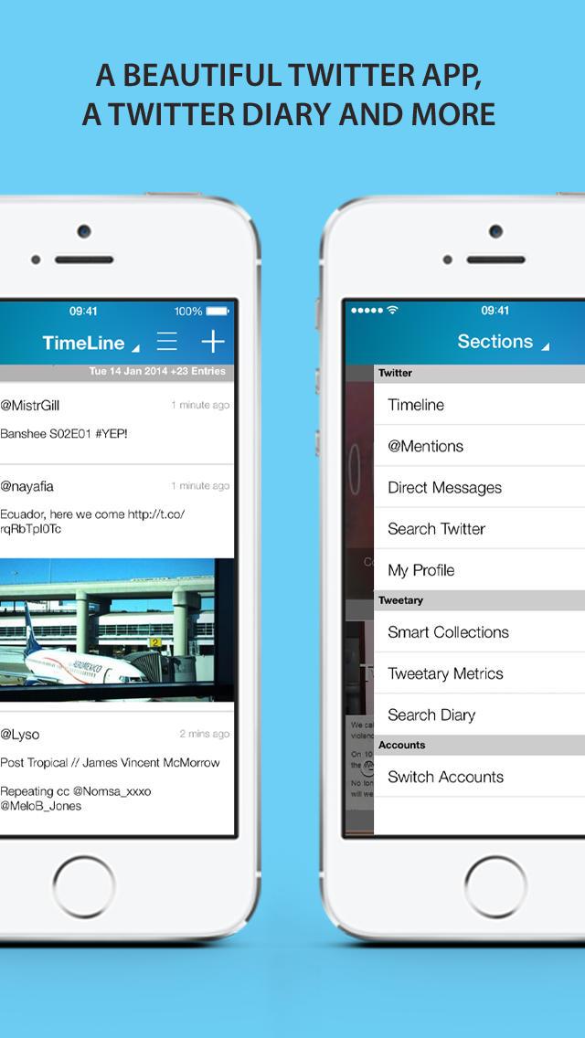 tweetary for Twitter (Universal) screenshot 1
