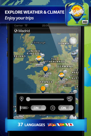 Weather Travel Map - náhled