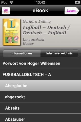 Fußball-Deutsch/Deutsch-Fußball screenshot 2