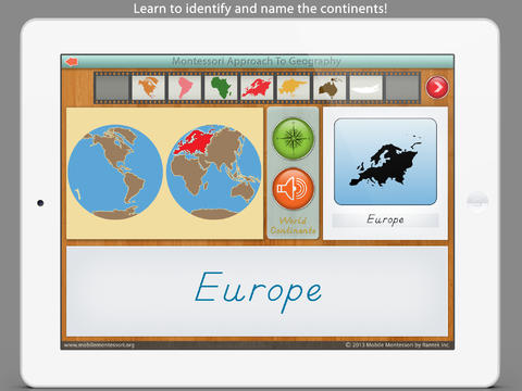 World Continents and Oceans - A Montessori Approach To Geography screenshot 7