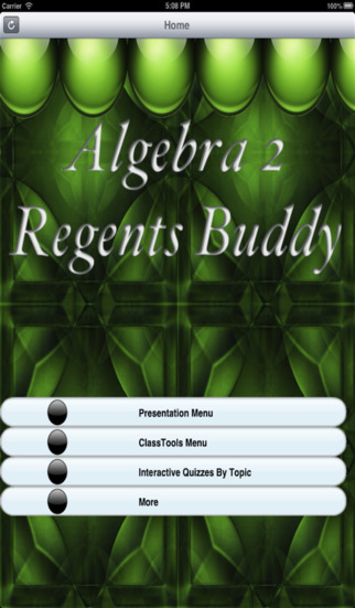 Algebra 2 Regents Buddy screenshot 1