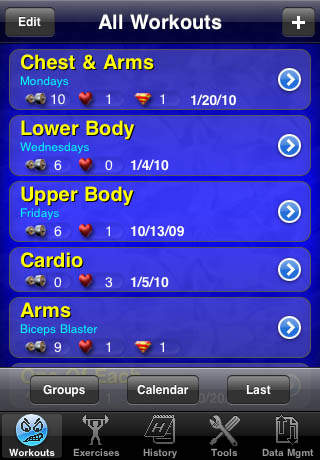 Gym Buddy screenshot 1