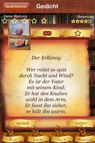 Lieblings-Gedichte der Deutschen Gratis screenshot 1