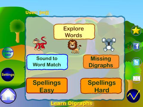 Learn Digraphs Preschool Kindergarten Reading Writing and Spelling screenshot 6