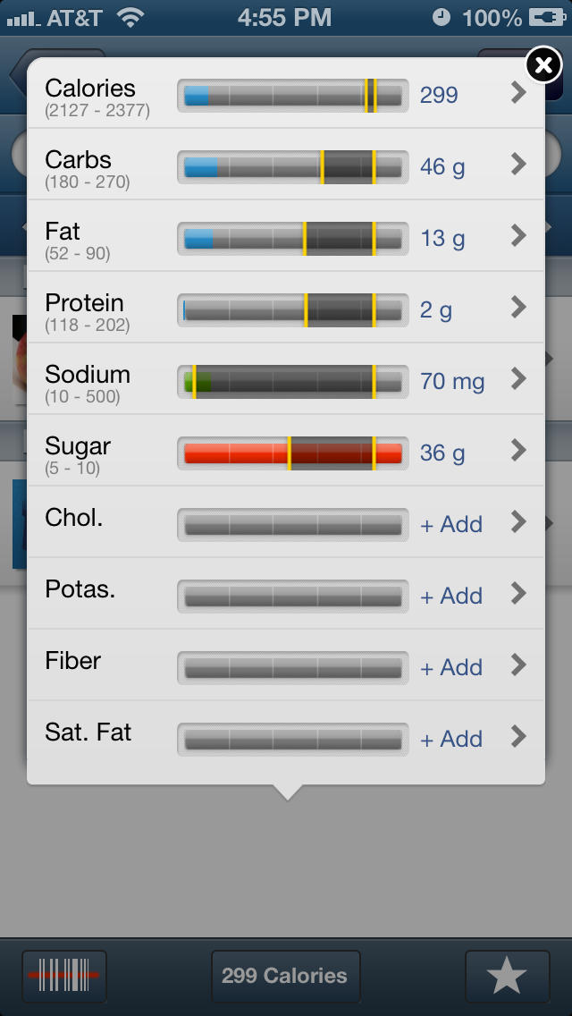 Tracker - Fitness and Nutrition Tracking screenshot 3