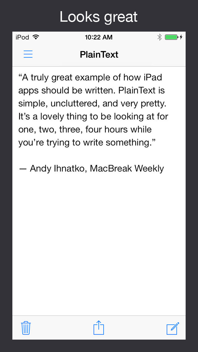 PlainText - Dropbox text editing screenshot 3