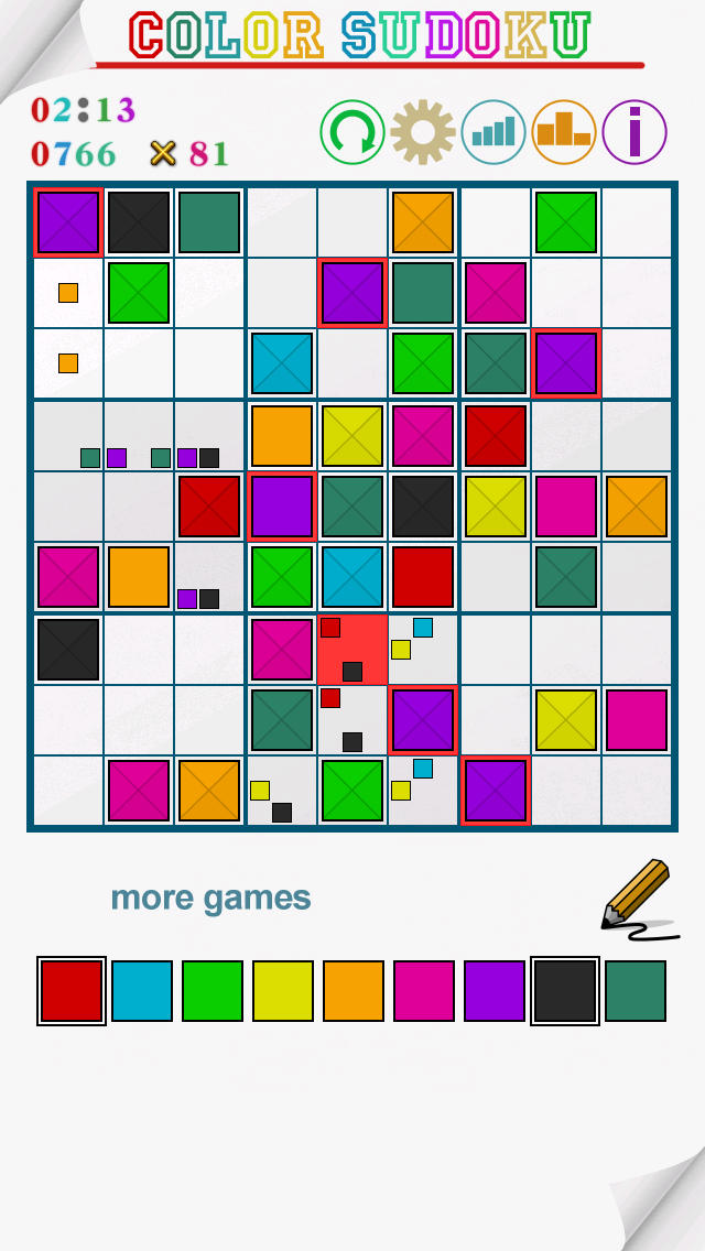 Color Sudoku Mint Pastel screenshot 1