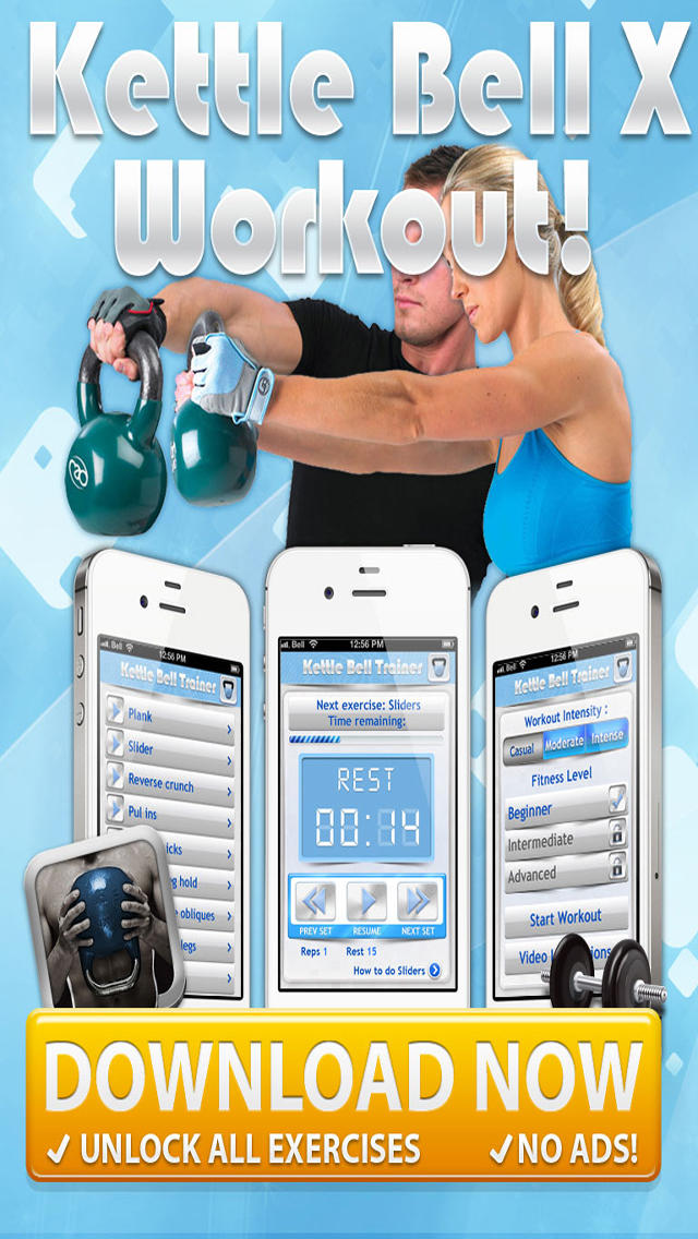 KettleBell & Dumbell Workout PRO - 5/7/10 Minute Weight Training Exercises screenshot 5