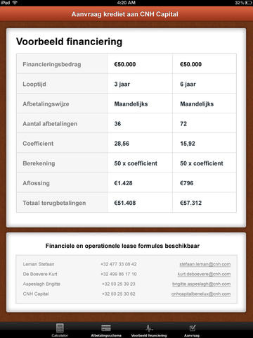 CNH Finance Tool BELUX - náhled
