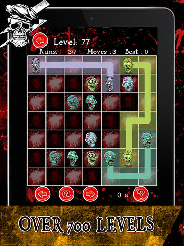 Dead Zombie Splash - Play Match 3 Zombie Puzzle Game with Free Flow & Skull Match screenshot 8