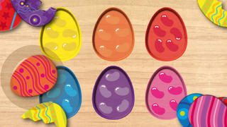 Wood Puzzle Easter Colors screenshot 5