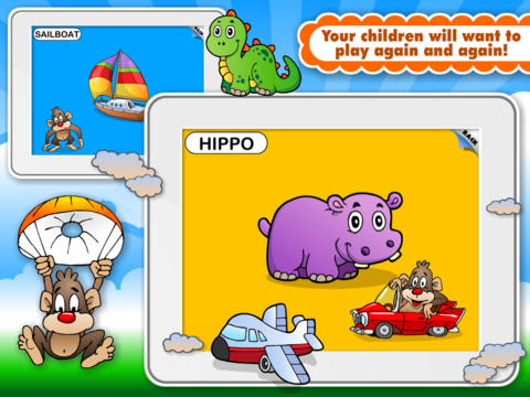 Abby Monkey® Animated Shape Puzzle Builder Deluxe: First Words Learning Game for Toddlers and Preschool Explorers! screenshot 3