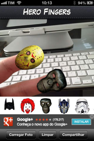 Hero Fingers - Put hero masks over your fingers! - náhled